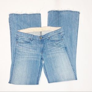 Rich & Skinny Distressed Sunkist Flared Jeans